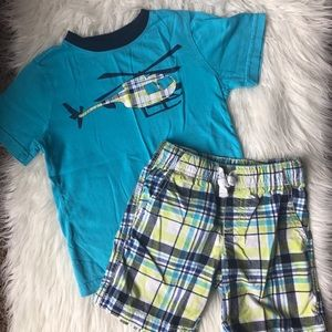 Gymboree 3T helicopter shorts and shirt